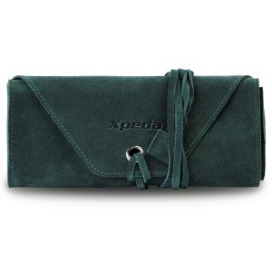 Genuine Suede Leather Watch Roll - Green