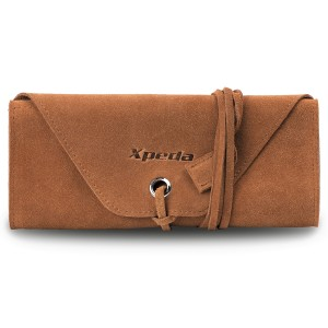 Genuine Suede Leather Watch Roll - Camel